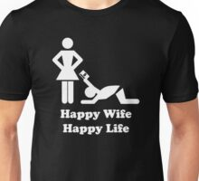 Happy Wife Happy Life Husband Holiday Wedding Unisex T-Shirt