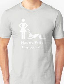 Happy Wife Happy Life Husband Holiday Wedding Unisex T-Shirt