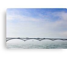 Peace Bridge in the Fog Canvas Print