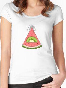 Watermelon X Kiwi Women's Fitted Scoop T-Shirt