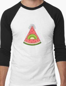 Watermelon X Kiwi Men's Baseball ¾ T-Shirt