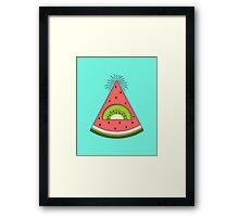 Watermelon X Kiwi Framed Print