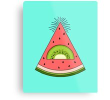 Watermelon X Kiwi Metal Print