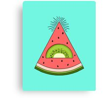 Watermelon X Kiwi Canvas Print