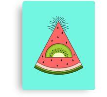 Watermelon X Kiwi Canvas Print