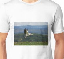Great White Pelican Flying Unisex T-Shirt