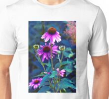 PURPLE CONEFLOWERS Unisex T-Shirt