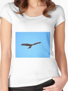 Black Kite Soaring Women's Fitted Scoop T-Shirt