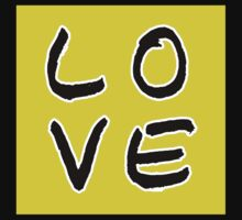 LOVE in Warm Yellow Kids Tee