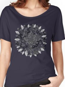 Black Blooming  Women's Relaxed Fit T-Shirt