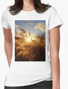 Marsh Sunset Womens Fitted T-Shirt