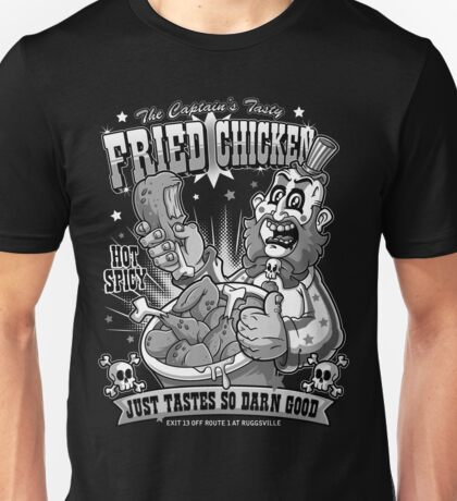 Tasty Fried Chicken- Black and White version Unisex T-Shirt
