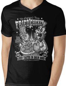 Tasty Fried Chicken- Black and White version Mens V-Neck T-Shirt
