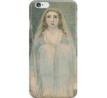 William Blake,  Seated Woman Holding a Staff iPhone Case/Skin