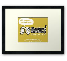 Mornings with Dan & Harry, KPHL 93.2 FM Framed Print