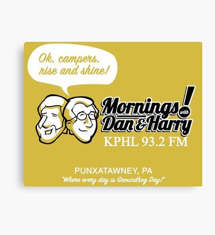 Mornings with Dan & Harry, KPHL 93.2 FM Canvas Print