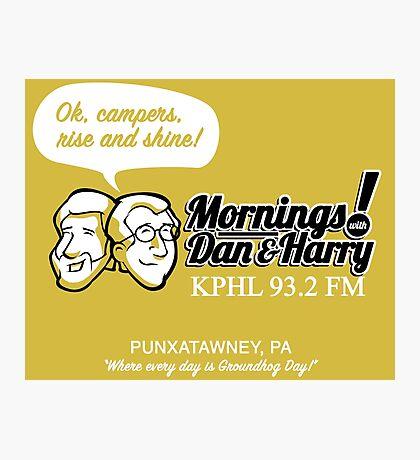 Mornings with Dan & Harry, KPHL 93.2 FM Photographic Print
