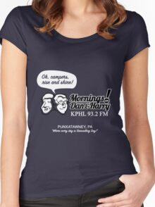 Mornings with Dan & Harry, KPHL 93.2 FM Women's Fitted Scoop T-Shirt