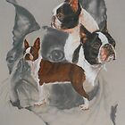Boston Terrier/Ghost by BarbBarcikKeith