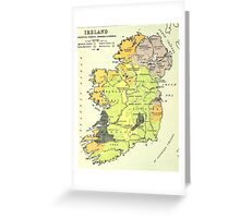 Old map of Ireland Greeting Card