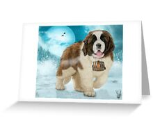 On A Mission - The Saint Bernard Greeting Card