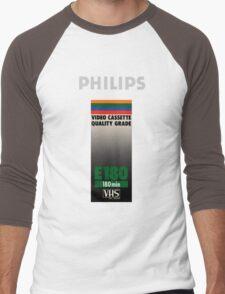 Retro VHS tape vaporwave aesthetic Men's Baseball ¾ T-Shirt