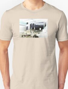 Abandoned car in haunted warehouse Unisex T-Shirt