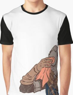 Medieval sweating towel guy Graphic T-Shirt