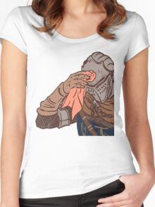 Medieval sweating towel guy Women's Fitted Scoop T-Shirt