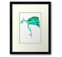Tribal Life - Wyvern - emerald Framed Print