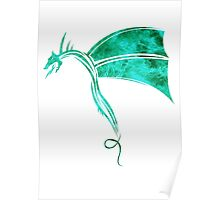 Tribal Life - Wyvern - emerald Poster