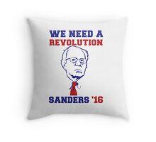 Bernie Sanders Revolution Throw Pillow