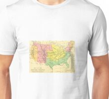 Old map of America Unisex T-Shirt