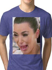Huge Kim Kardashian Crying Tri-blend T-Shirt