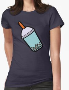 Bubble Tea Pattern Womens Fitted T-Shirt
