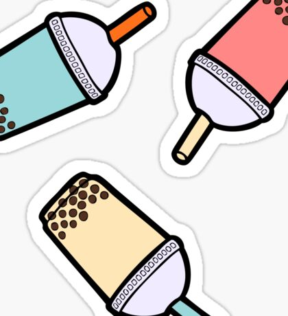 Bubble Tea Pattern Sticker
