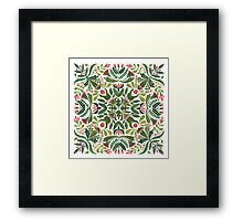 Little red riding hood - mandala pattern Framed Print
