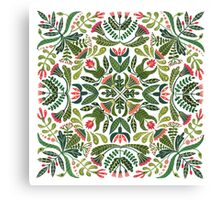 Little red riding hood - mandala pattern Canvas Print