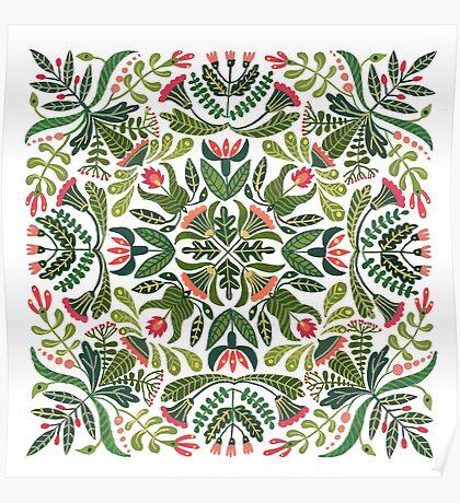 Little red riding hood - mandala pattern Poster
