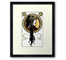 Art Nouveaux Lady  Framed Print