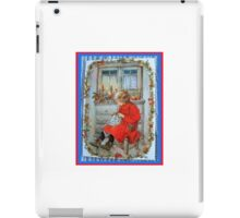 Winter Sewing Child Candle in the Window  iPad Case/Skin
