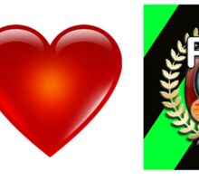 I Love PFA (Green) Sticker