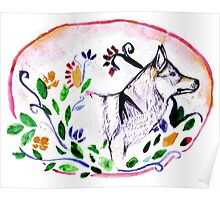 It always at the sunset whan wolf came out of the flower Poster