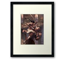 Above the Labyrinth Framed Print