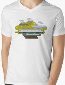 Railway Locomotive #40 Mens V-Neck T-Shirt