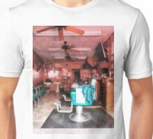 Barber Shop With Green Barber Chairs Unisex T-Shirt