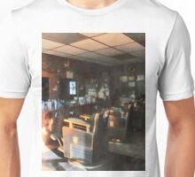 Barber Shop With Sun Shining Through Window Unisex T-Shirt