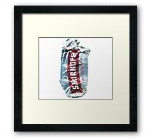 Smirnoff Cranberry - Crushed Tin Framed Print
