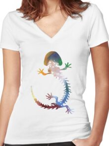 Cryptobranchus (Hellbender Salamander) Women's Fitted V-Neck T-Shirt