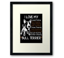 Bull Terrier Lover Framed Print